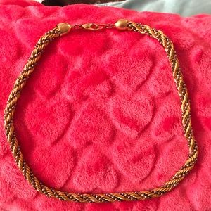 Jewelry - Rare Rope twist gold plated necklace two tone
